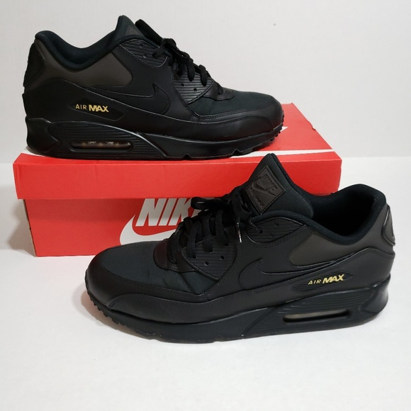 Nike Air Max 90 Premium Black Gold Size 14 A09